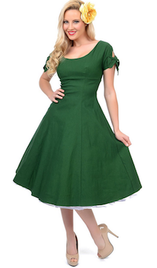 Green 50s Vintage Inspired Dress