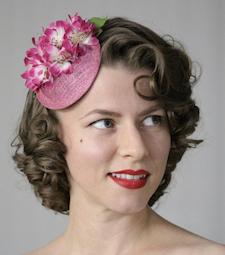 Vintage Floral Facinator from Chatter Blossom