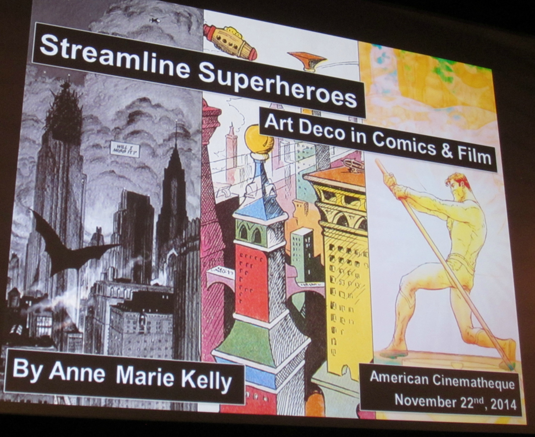 Comic Books and Art Deco Lecture