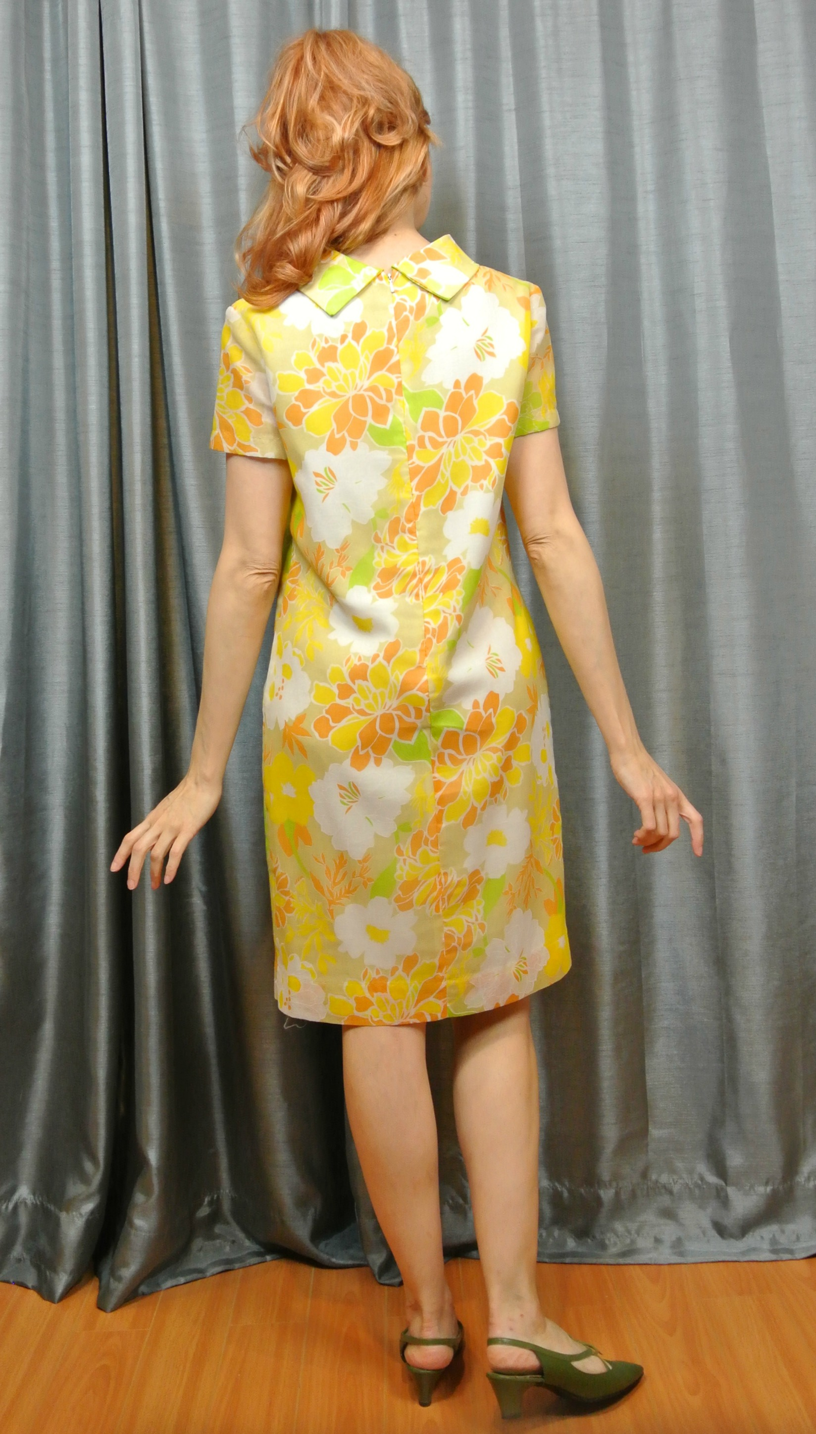 Stiletto City Store - Floral 1960s Vintage Dress Back View