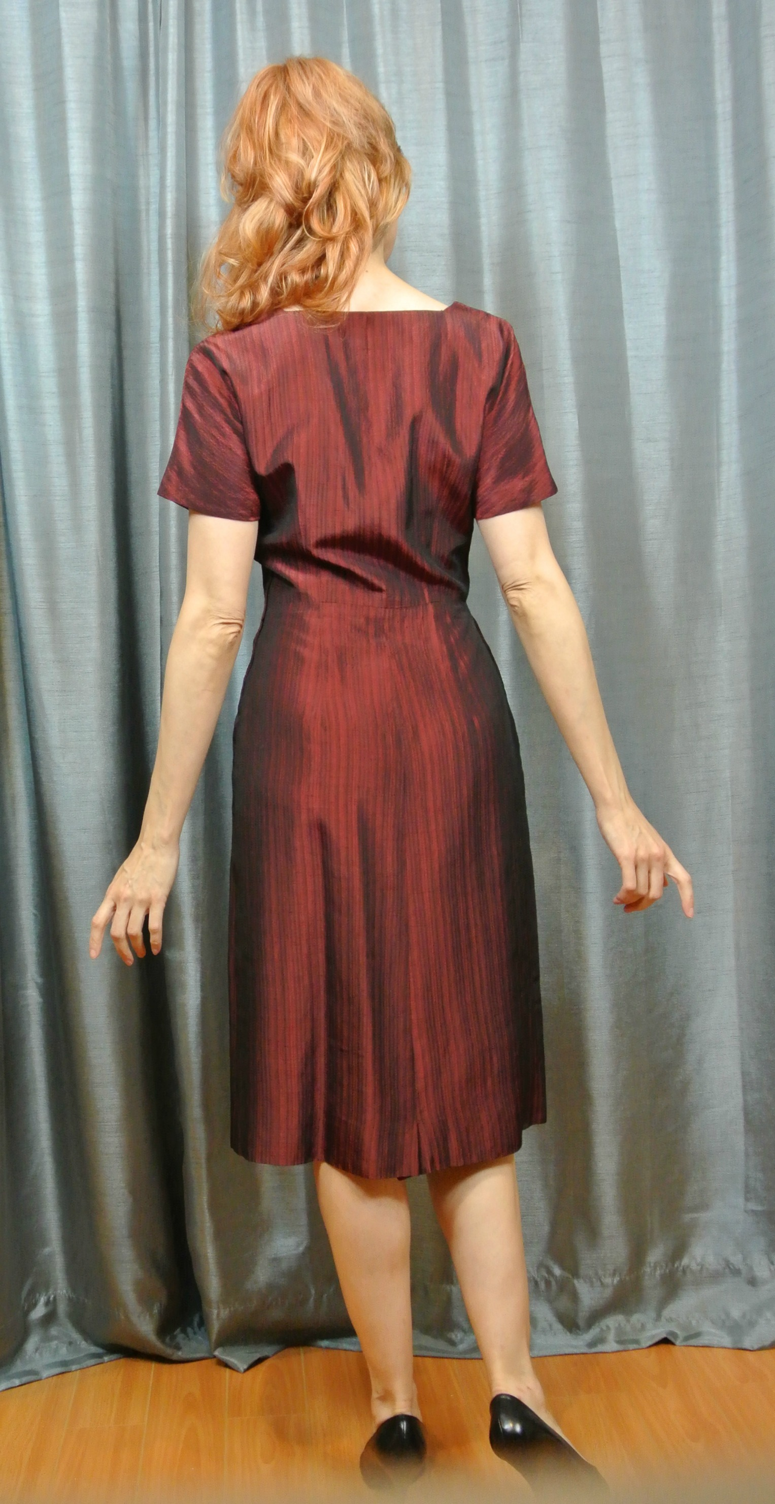 Stiletto City Store -Red Vintage Dress Back View