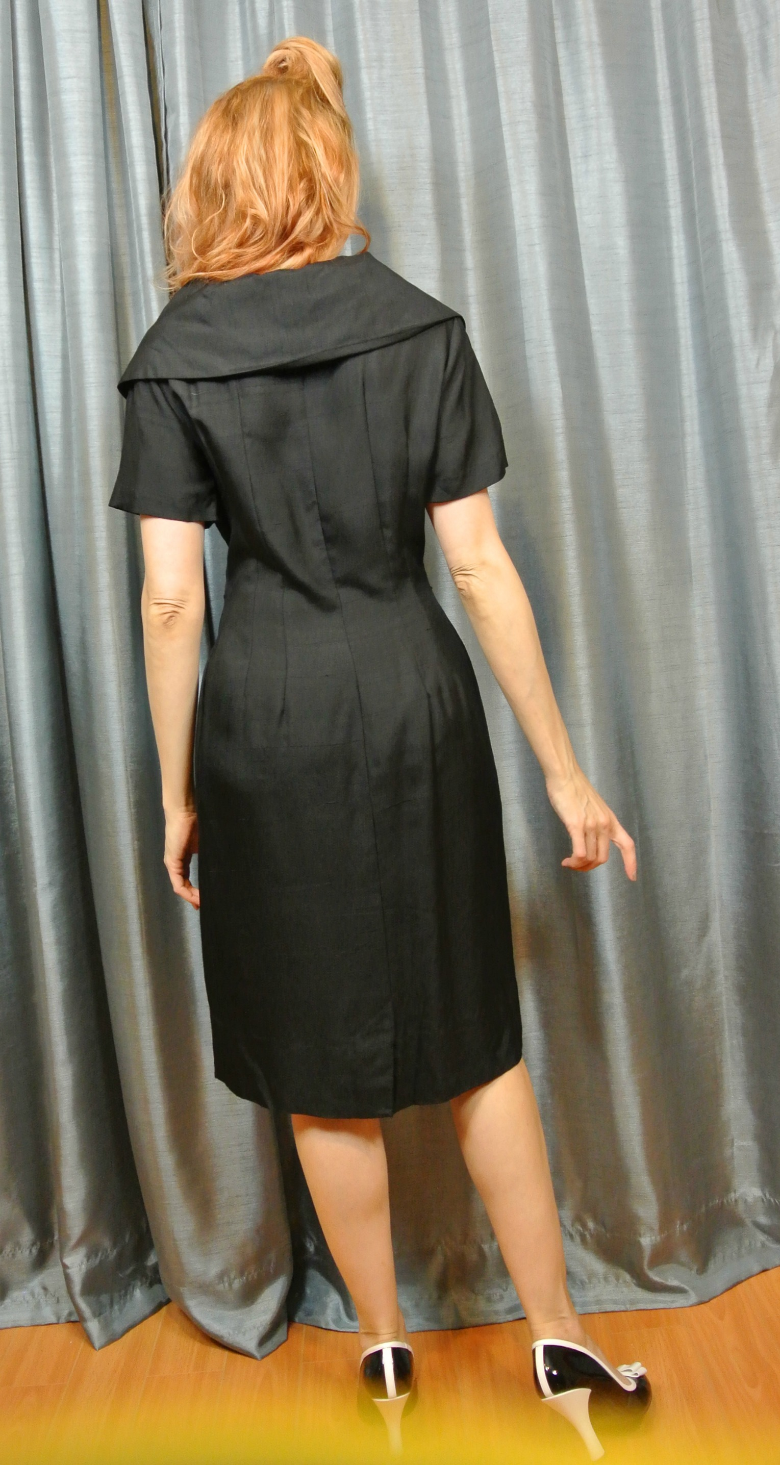 Stiletto City Store - Black Vintage Dress Back View