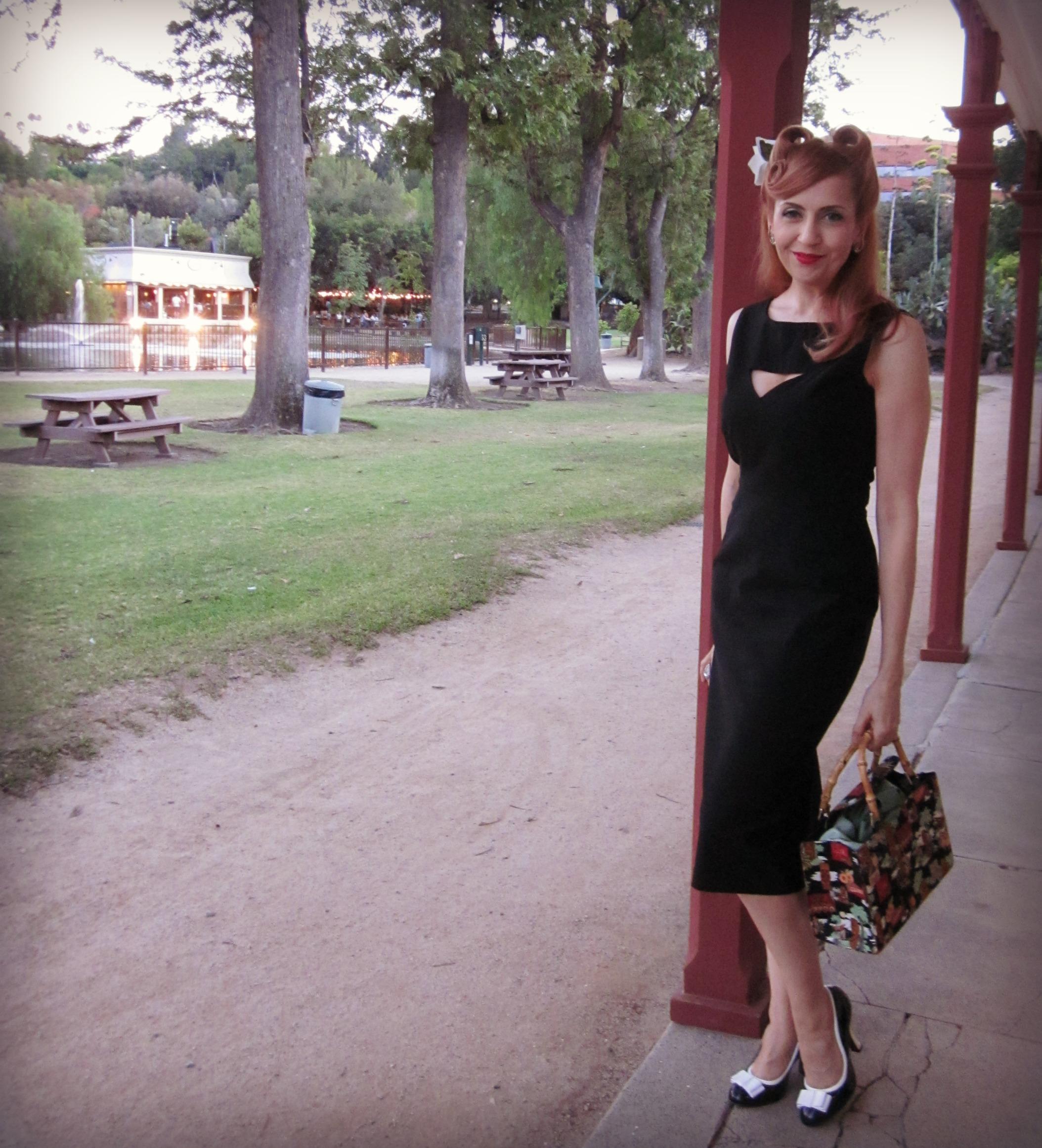 Pinup Style Tatyana Megan Dress, Los Encinos State Historic Park