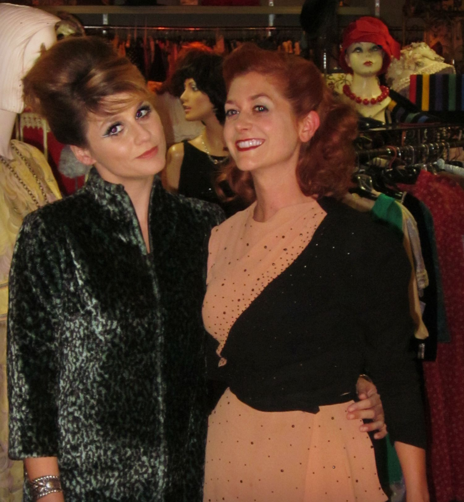 Hair and Makeup demo at Playclothes Vintage