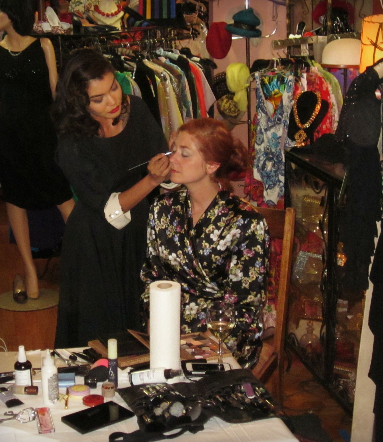 Makeup Up Artist Gloria Alex at Playclothes Vintage
