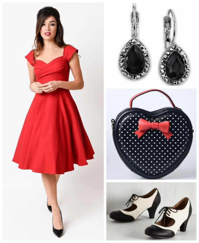 Pinup Style Swing Dress Look