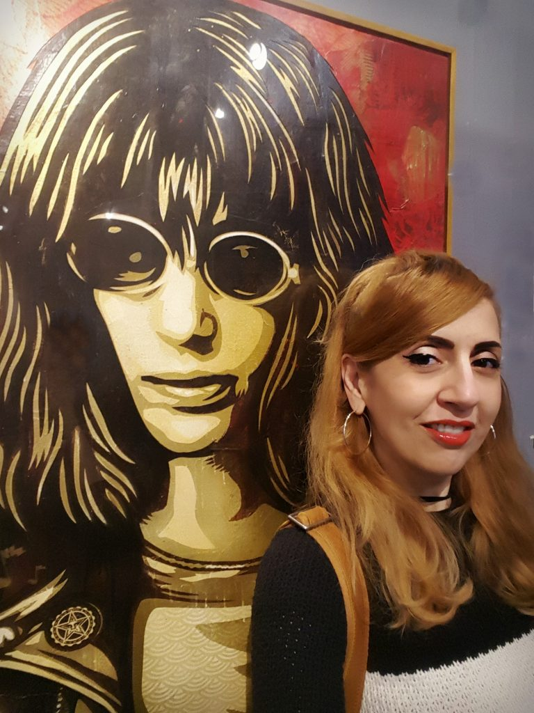 Shepard Fairey Joey Ramone Portrait, Ramones Exhibit, Grammy Museum LA