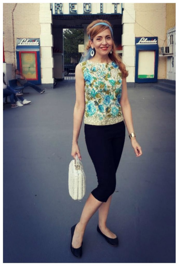 Vintage fashion 1960s inspired outfit