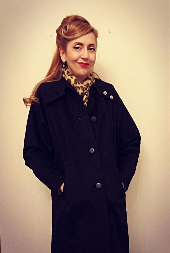 Girl in vintage coat
