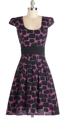 Fat Black Cat Dress