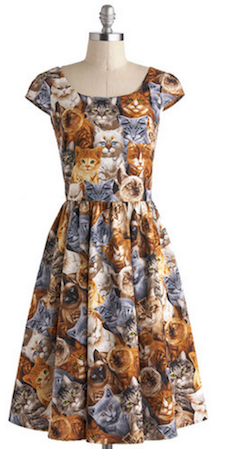 Feline Print Dress