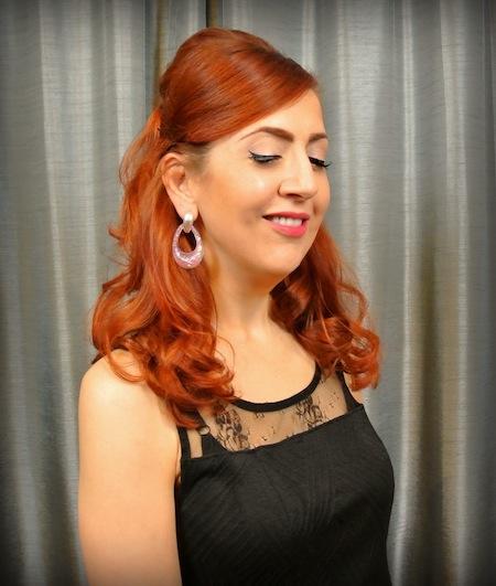BlueBelle Vintage Lucite Earrings - StilettoCity.com