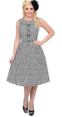Black and White Vintage Inspired Dress