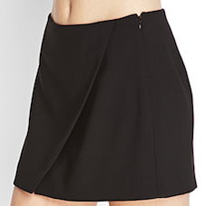 Black Mini Wrap Skirt
