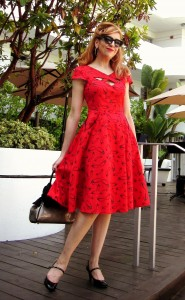 Red Retro Style Dress - StilettoCity.com