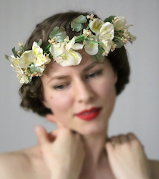Vintage Floral Crown from Chatter Blossom