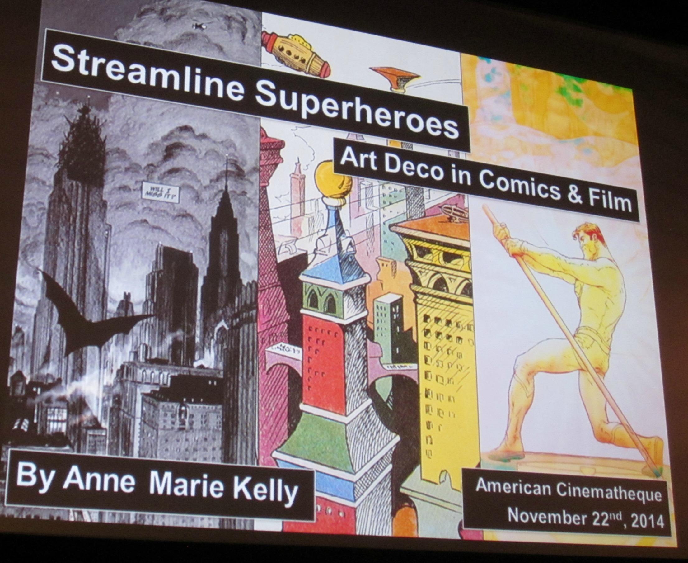Comic Books and Art Deco Lecture