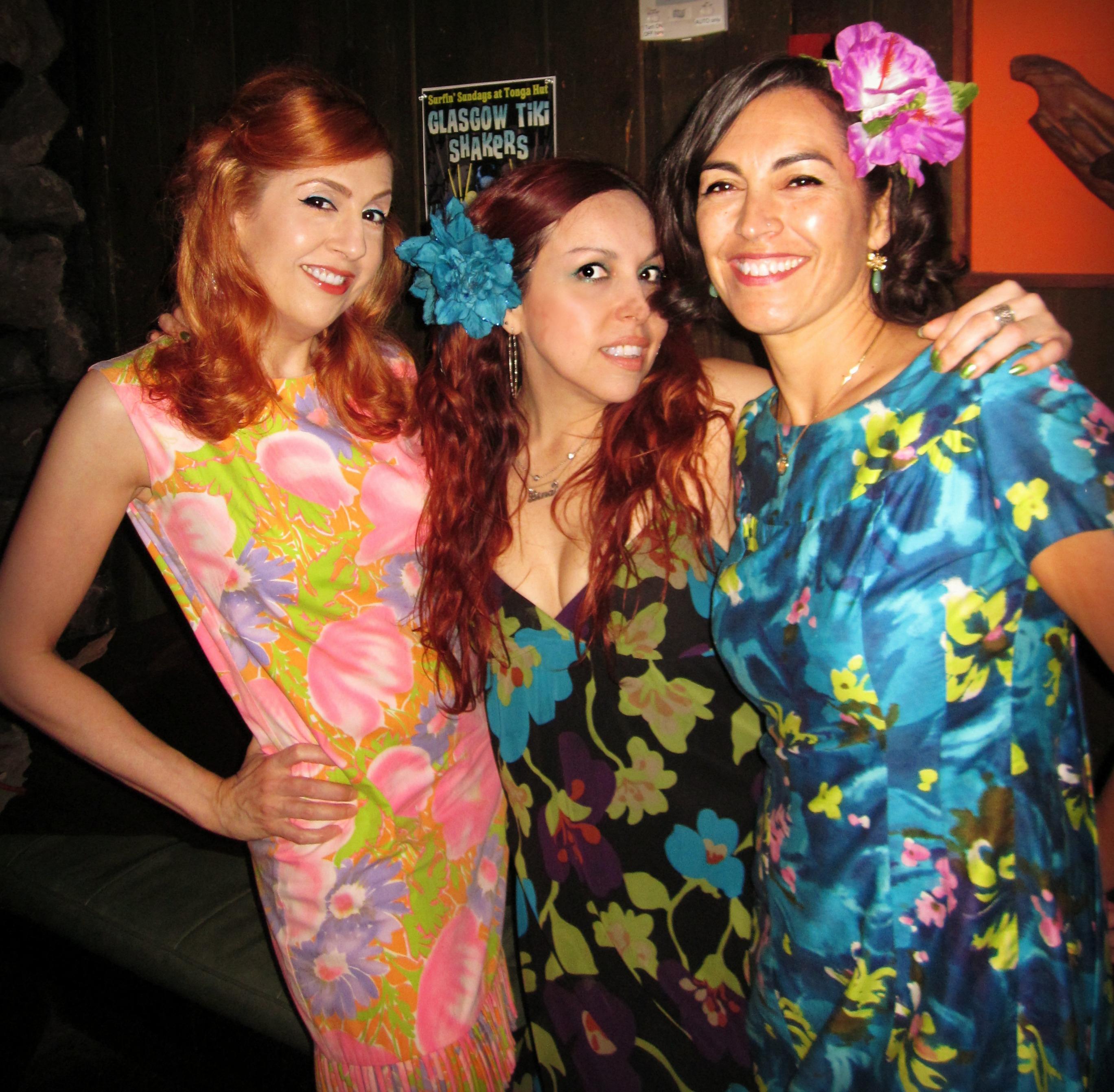 Kastle Waserman, Lina Lecaro and Friends at the Tonga Hut, North Hollywood