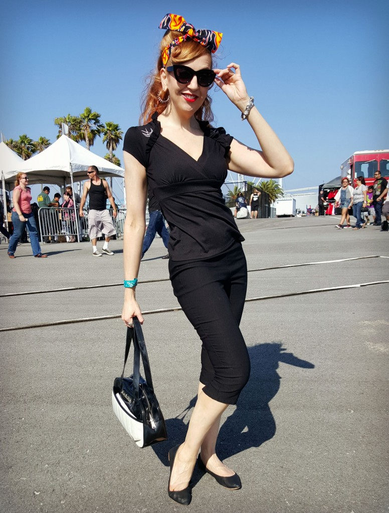 Bad girl rockabilly outfit