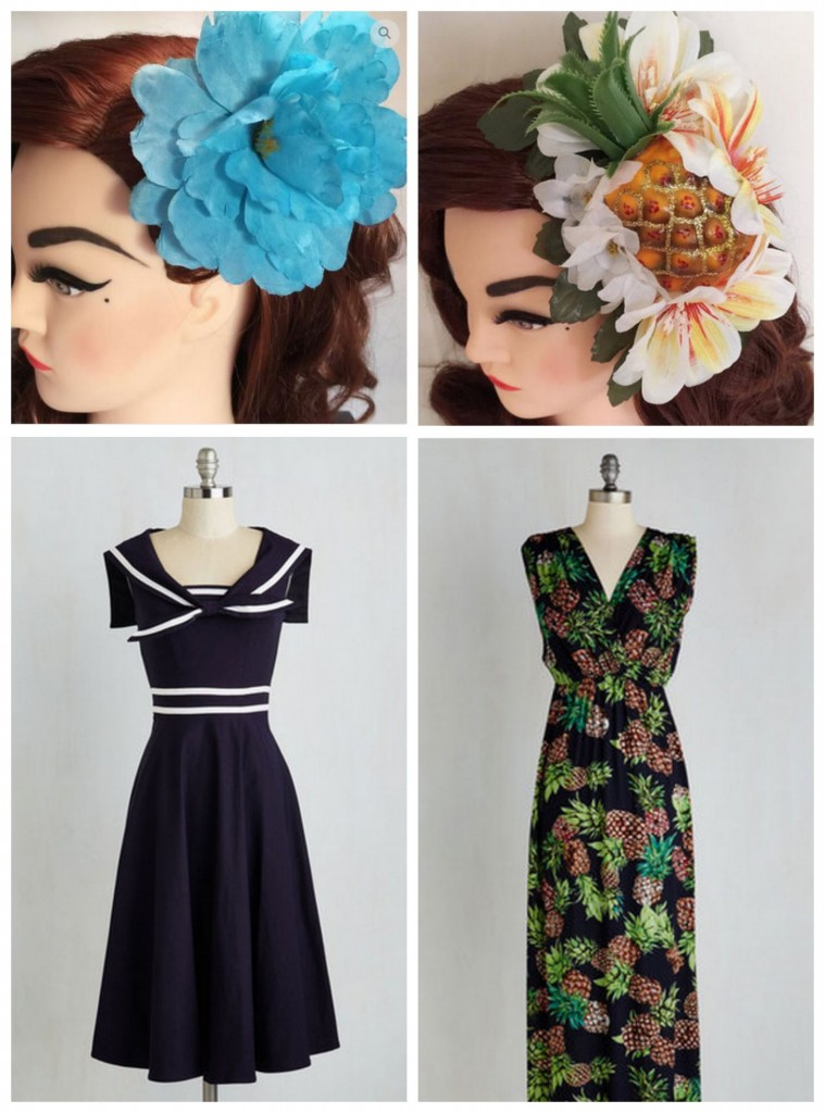 how to wear hair flowers 2