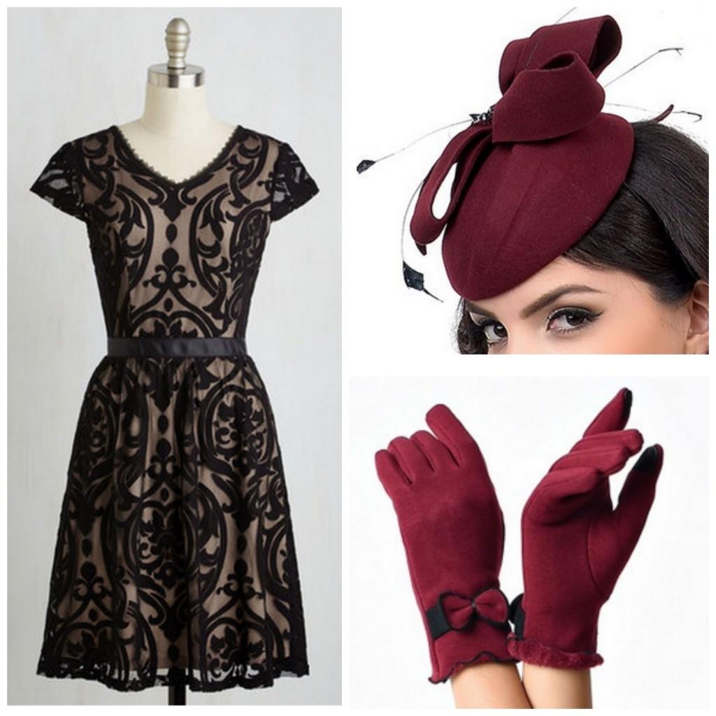 Elegant Vintage Style Look