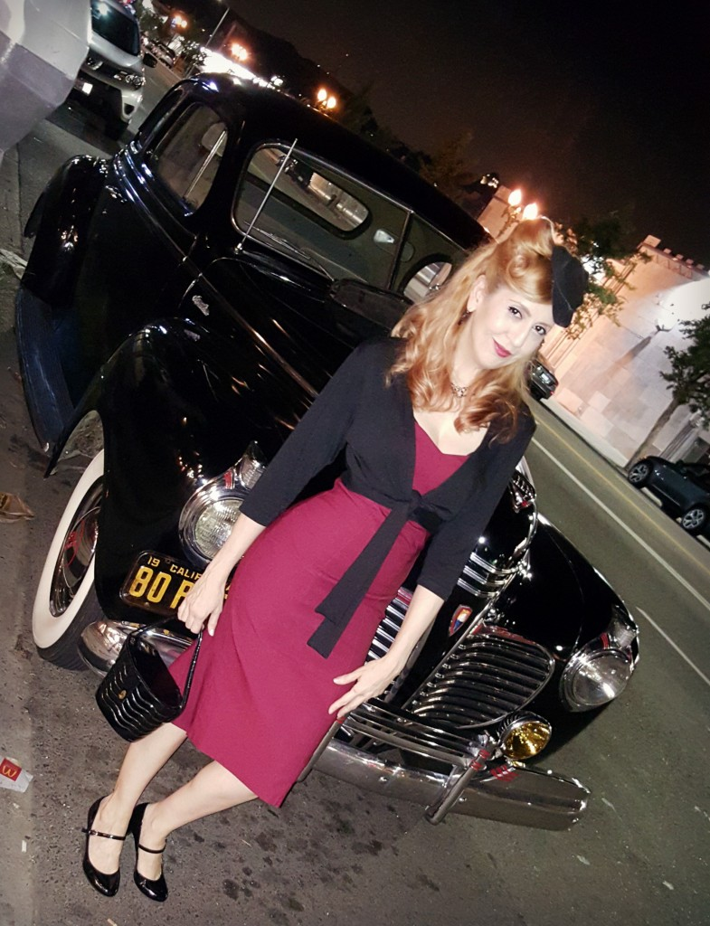 Classic car pinup style look