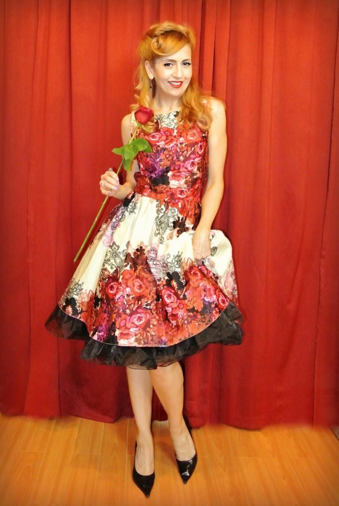 OOTD valentine swing dress style