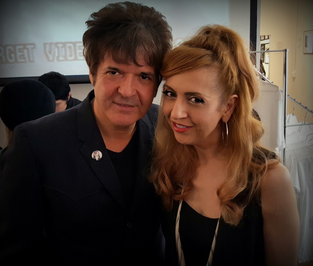 Kastle Waserman and Clem Burke from Blondie, Lethal Amounts Gallery reception March 2016