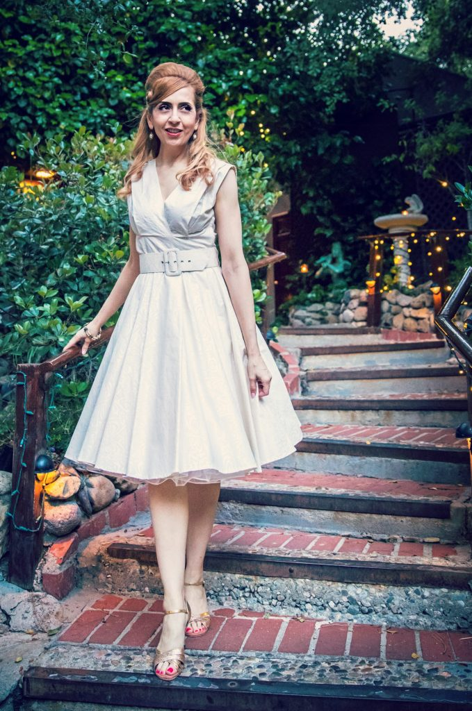 Vintage inspired wedding tea dress