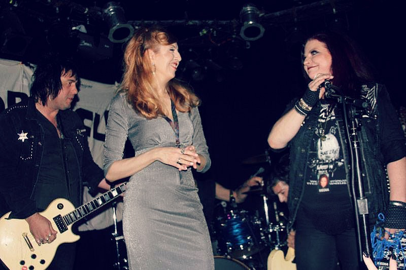 Kastle Waserman, Kelly Q. on stage at the Viper Room