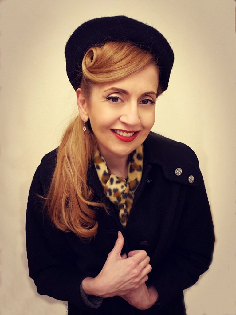 Vintage style in winter: beret hat