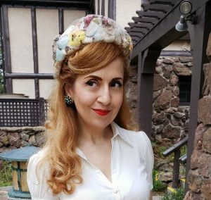 Vintage floral pillbox hat