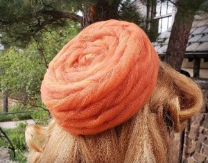 Orange PIllbox Hat
