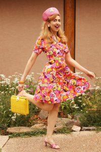 Colorful vintage 1960s dress