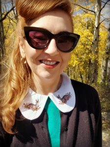 Detachable Peter Pan Collar with Deer Image