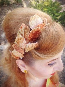 Vintage autumn leaf headband