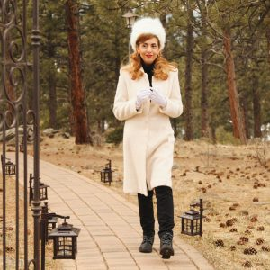 Winter White Coat and Hat