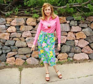 1970s floral wrap skirt