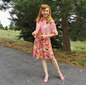 Vintage Ruffle Bed Jacket Over a Dress